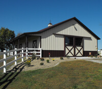 Horse Barns - Horse Stables & Barns with Living Quarters - Lester ...