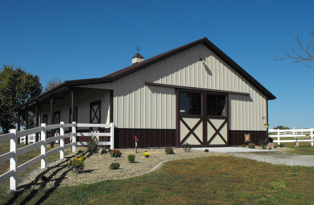 King City Mo Stable Building Lester Buildings Project