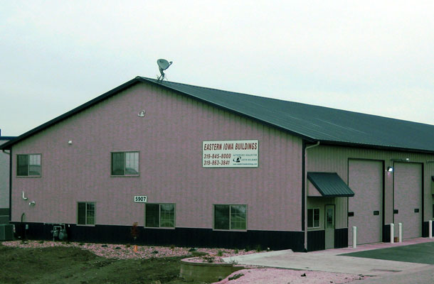 Cedar Rapids IA, Commercial Shop and Office, Eastern Iowa Building Inc., Lester Buildings