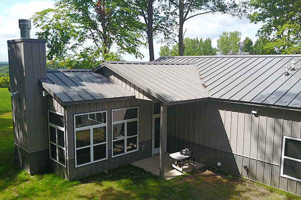 Hopkinton IA, house, Eastern Iowa Building Inc., Lester Buildings, Eclipse Roof, Metal Roofing