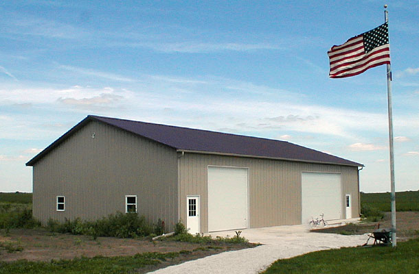 Yorkville IL, Ag Storage and Shop, Ivan Hovden, Lester Buildings