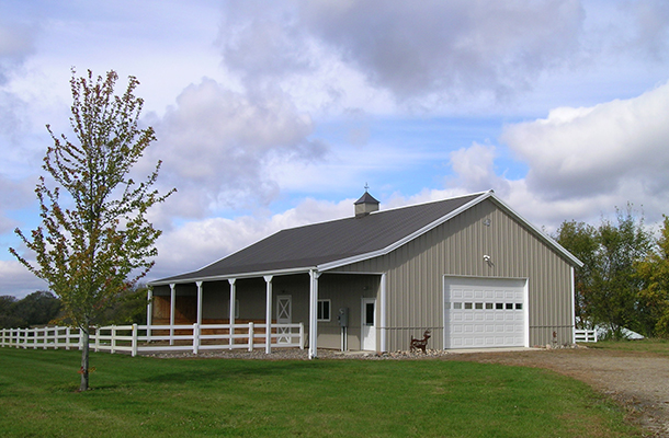 Monticello MN, horse barn and hobby shop, Ron Foust, Lester Buildings