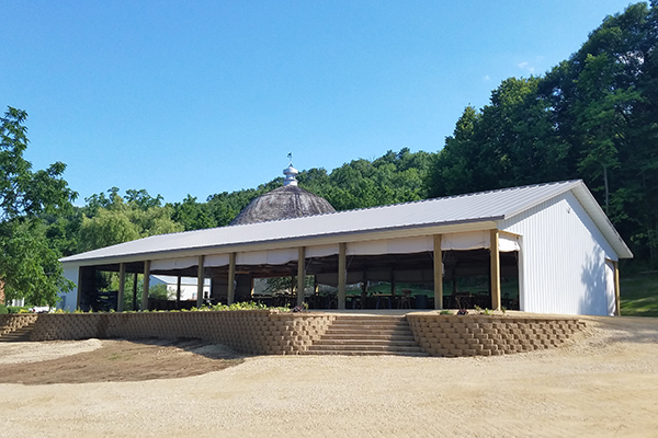 Red Wing, Round Barn Weddings LLC, wedding reception pavilion, Corey Larsen, Lester Buildings