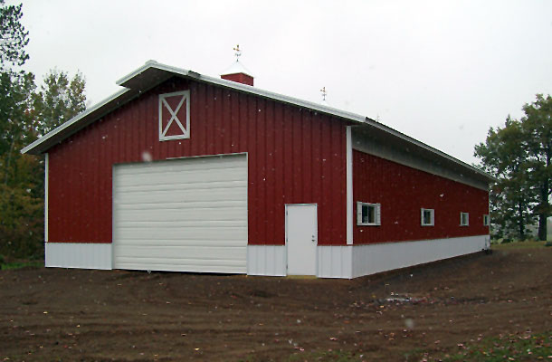 Menards pole buildings on sale joy studio design gallery for Pole barn equipment shed