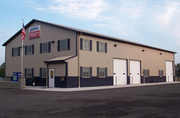 Shortsville NY, Vehicle Sales and Service Building, Lordan Development Inc., Lester Buildings