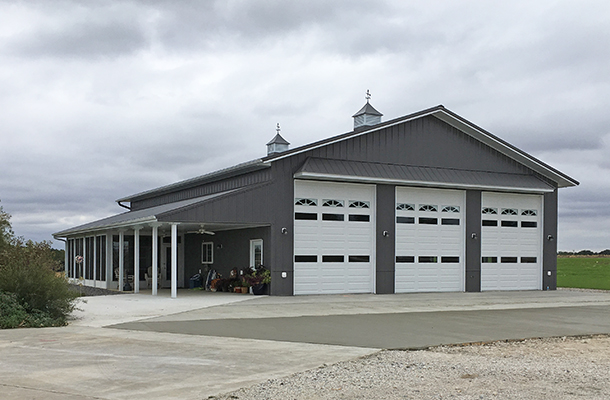 Alden ia hobby shop building lester buildings project for Design homes iowa