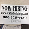 Lester Buildings_Now Hiring_Job Fair