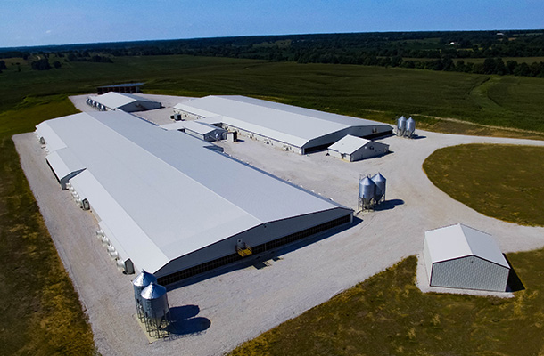 Salisbury MO, Hog Facility, Precision Structures Inc., Lester Buildings