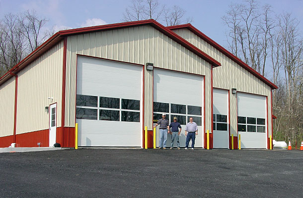 Cornwall PA, Fire Station, H.R. Weaver Building Systems Inc., Lester Buildings