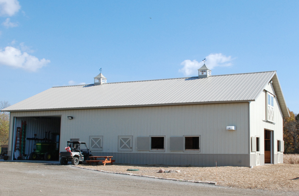 Delano, MN, horse stable, Ron Foust, Lester Buildings
