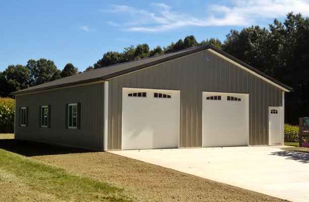 Salem Oh Garage Building Lester Buildings Project 313887