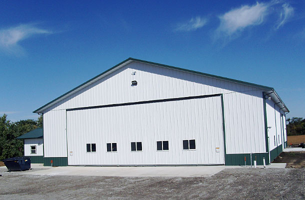Hiawatha Ks Ag Storage Shop Building Lester Buildings