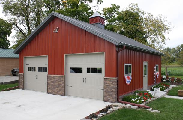 wide metal central garage barn carport triple tx buildings