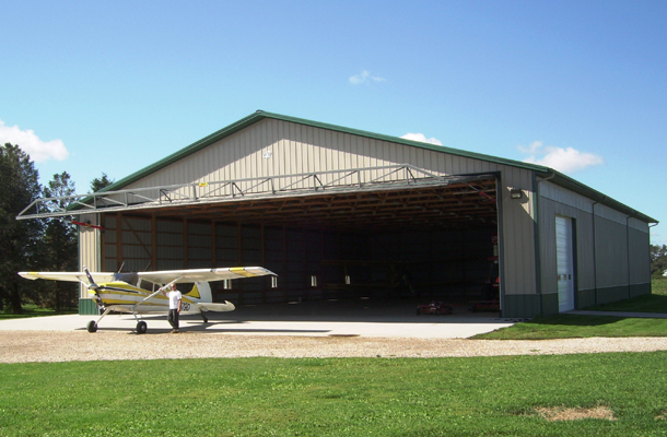 Beaman Ia Aircraft Hangar Building Lester Buildings