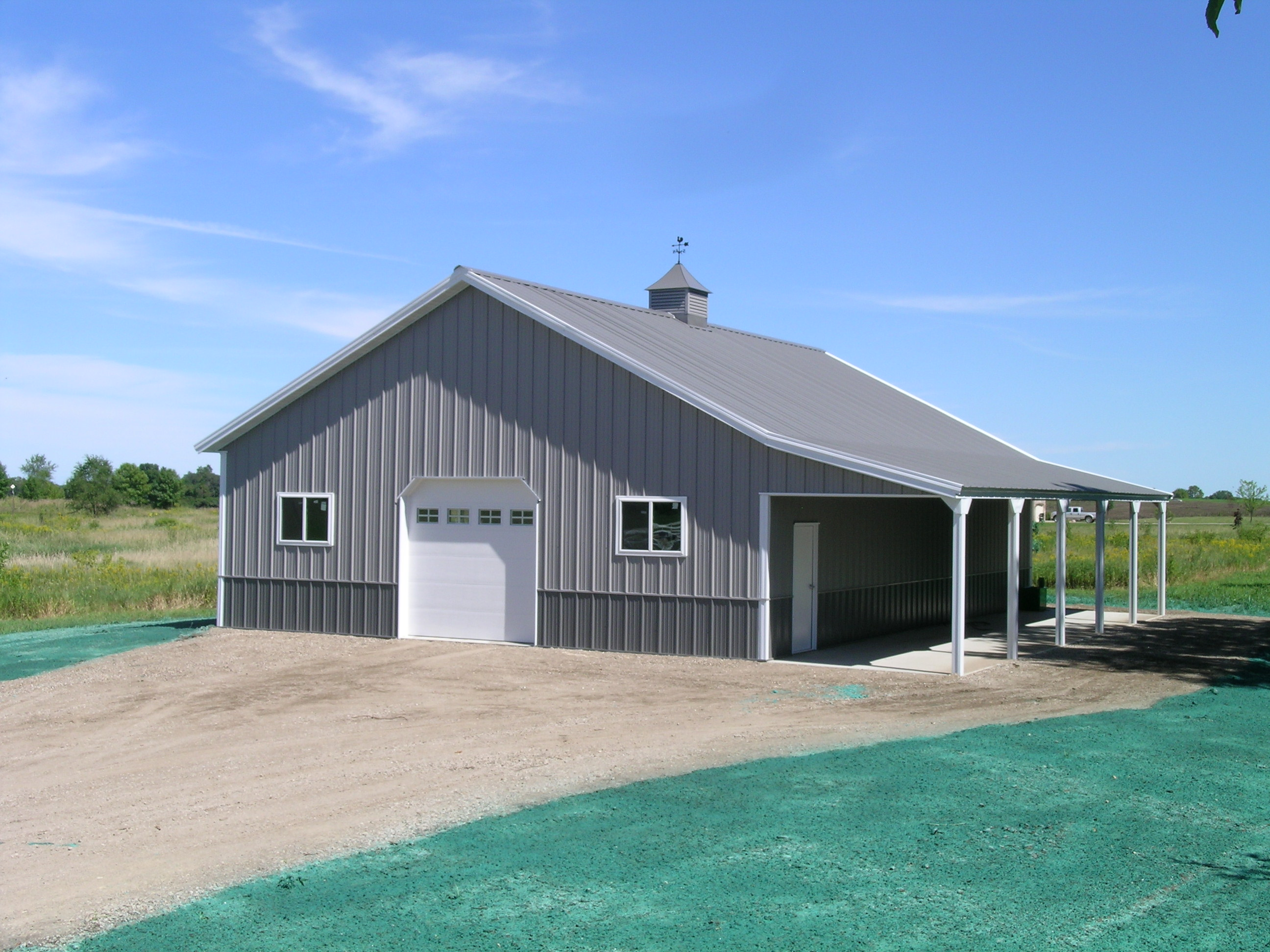 Corcoran mn garage hobby shop building lester for Pole barn specs