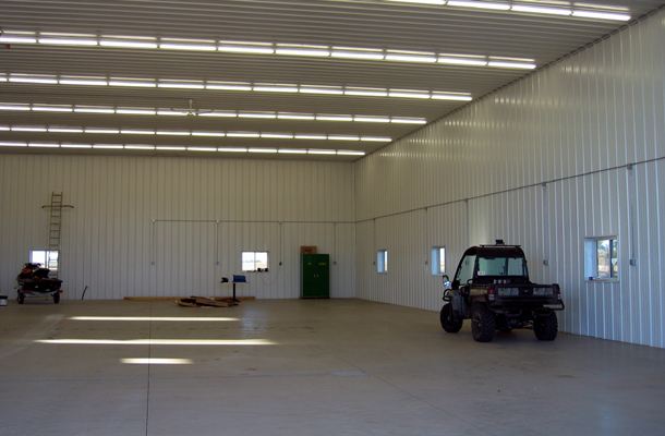 Ellendale, ND, Ag Shop, Power Pivot Door, Lester Buildings