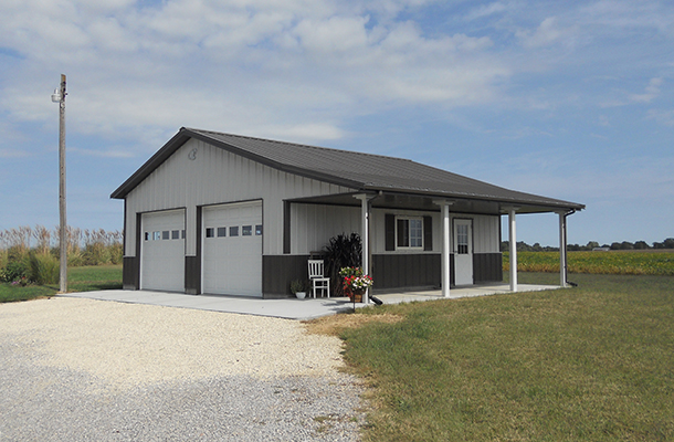Moundridge ks garage hobby shop building lester for Pole barn specs