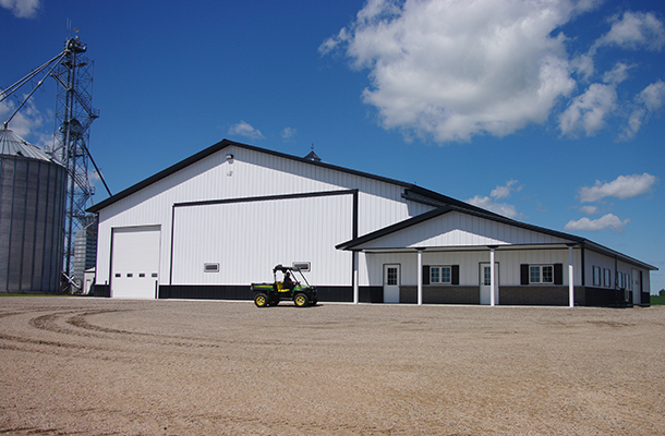 Glencoe Mn Ag Storage Shop Building Lester Buildings