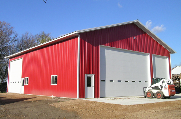 Young America Mn Ag Storage Shop Building Lester