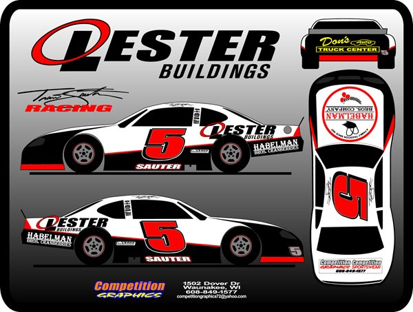 Lester Racing Car Decals