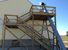 Dry Fertilizer Storage Building with Exterior Stair System