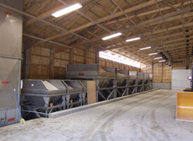 Dry Fertilizer Storage Building with Weigh Hoppers