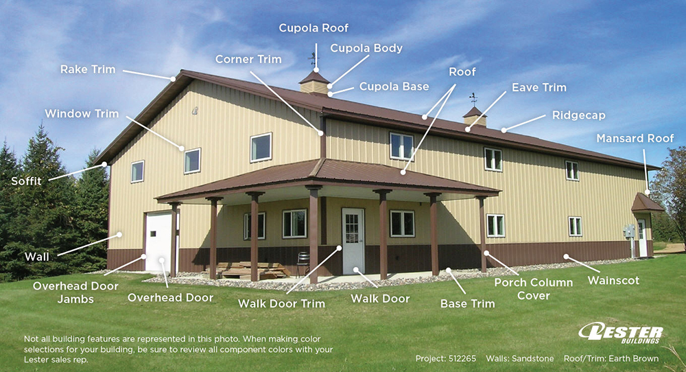 Pole Barn Colors Exterior Siding Windows Doors Lester