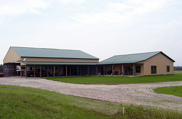 Ottawa Ks Stable Arena With Living Quarters Building