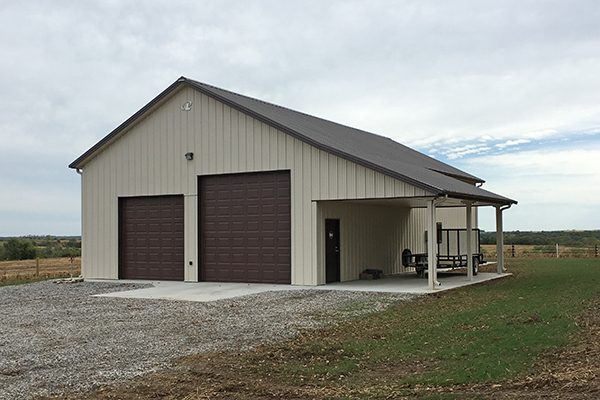 King City MO, Hunting Cabin, Workman Fencing and Construction, Lester Buildings