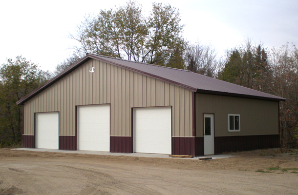 Lesueur mn garage building lester buildings project for 40x50 shop cost