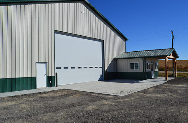 Farnam, NE, seed dealership, storage, office, Axxent Buildings LLC, Lester Buildings
